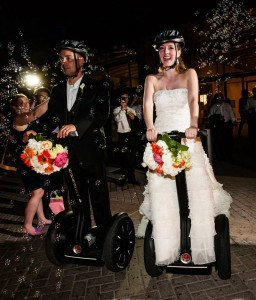 Maybe you wanna Segway down the aisle together. [Image via Zuzu Segways]